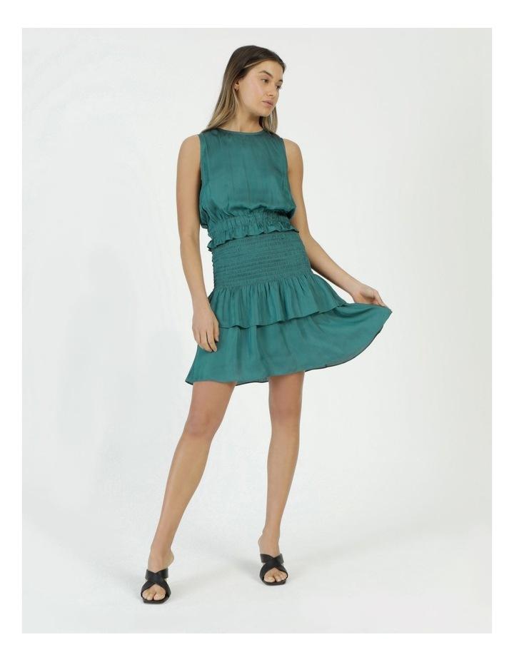 Sleeveless Shirred Mini Dress image 1