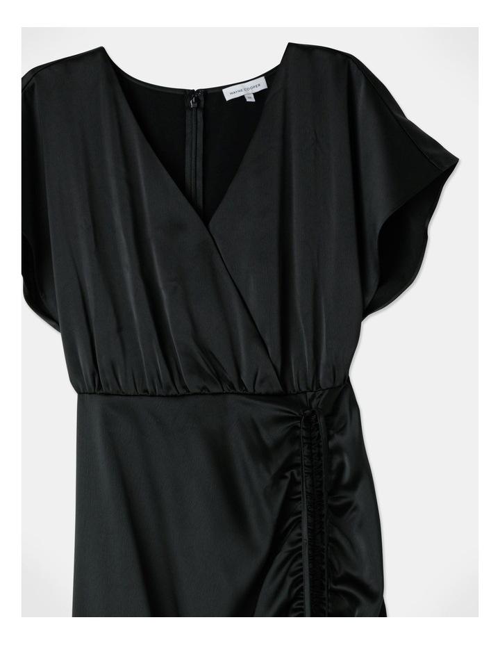 Ruched Midi Dress Black image 2