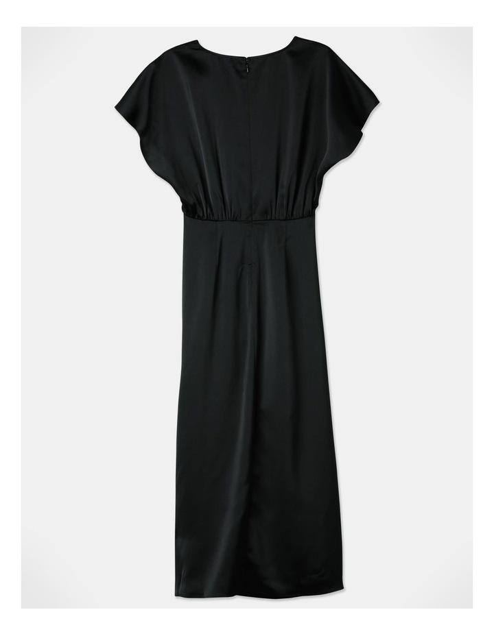 Ruched Midi Dress Black image 3