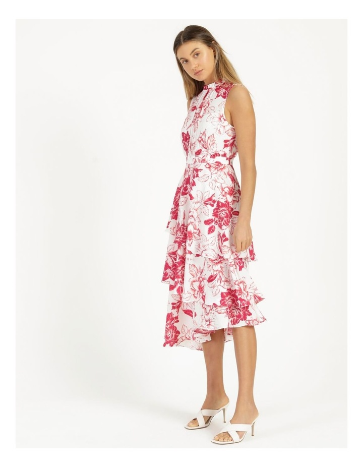Tiered Frill Midi Bruised Poly Dress image 3