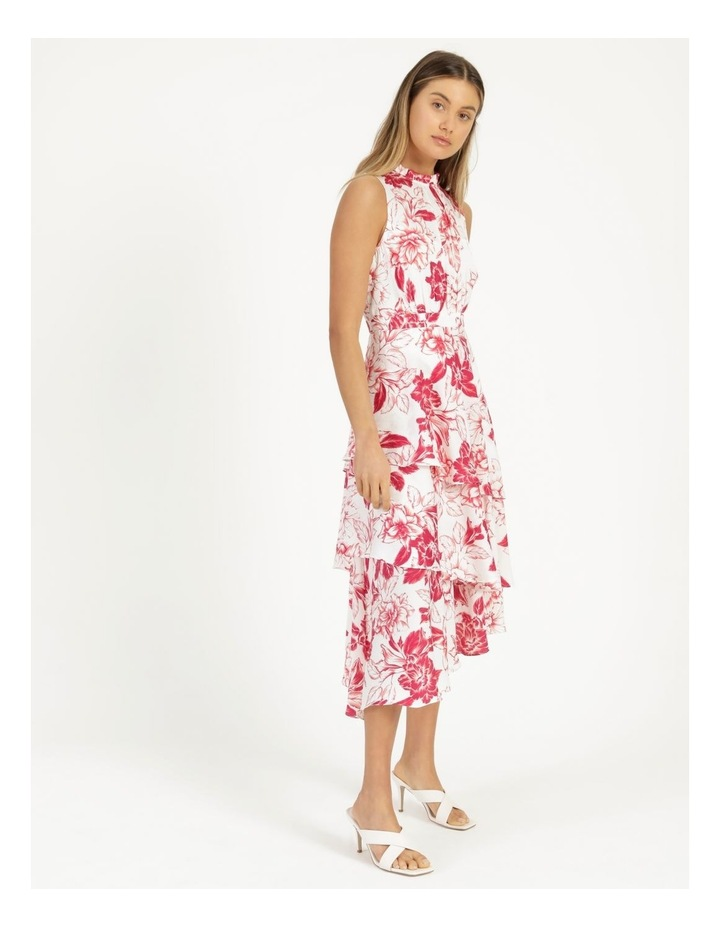 Tiered Frill Midi Bruised Poly Dress image 4
