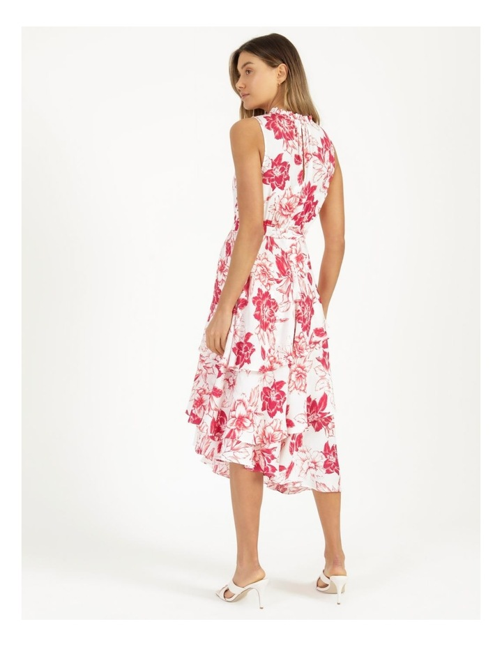 Tiered Frill Midi Bruised Poly Dress image 5