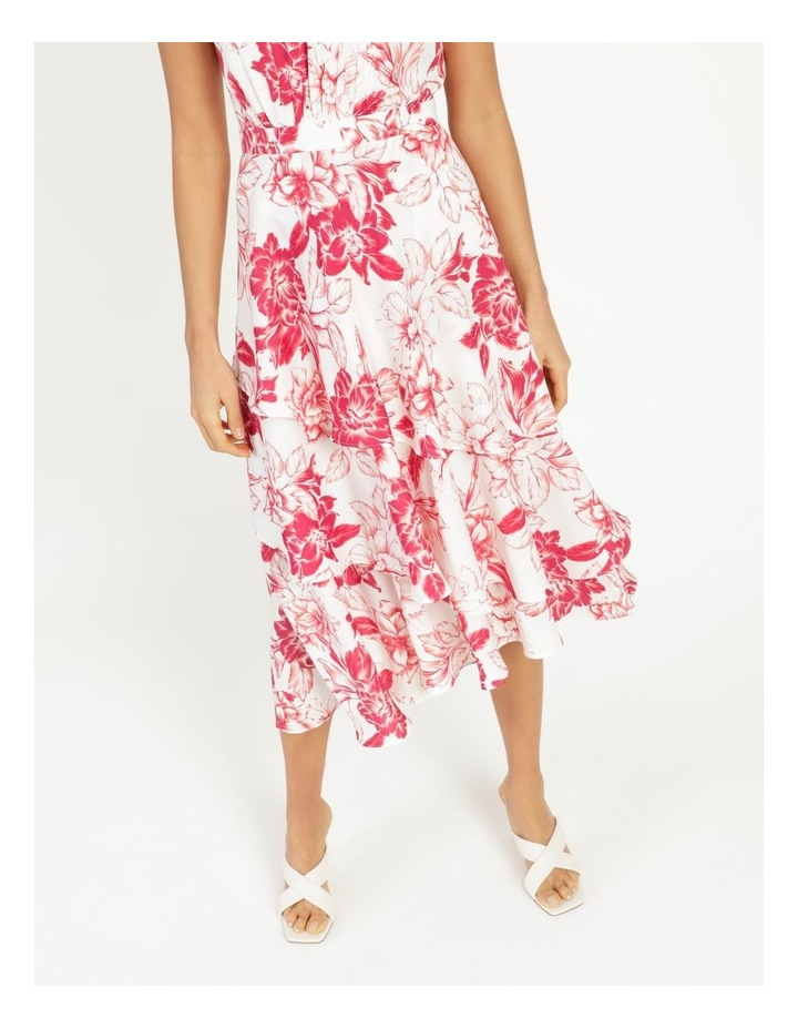 Tiered Frill Midi Bruised Poly Dress image 6