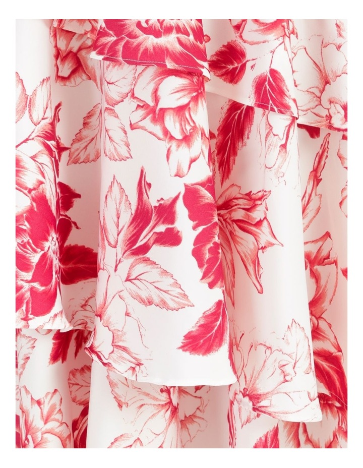 Tiered Frill Midi Bruised Poly Dress image 7