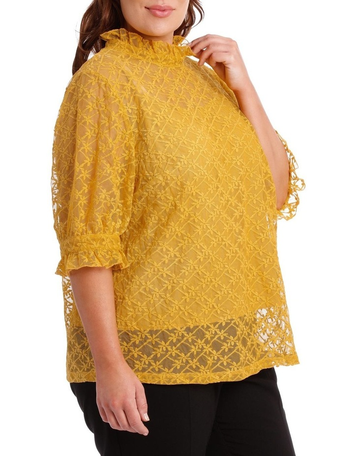 Top Lace Short Sleeve with Cami image 2