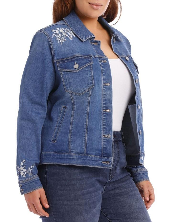 Embroidered Denim Jacket image 4