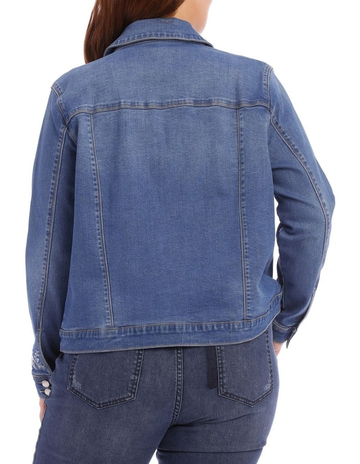 Embroidered Denim Jacket image 6