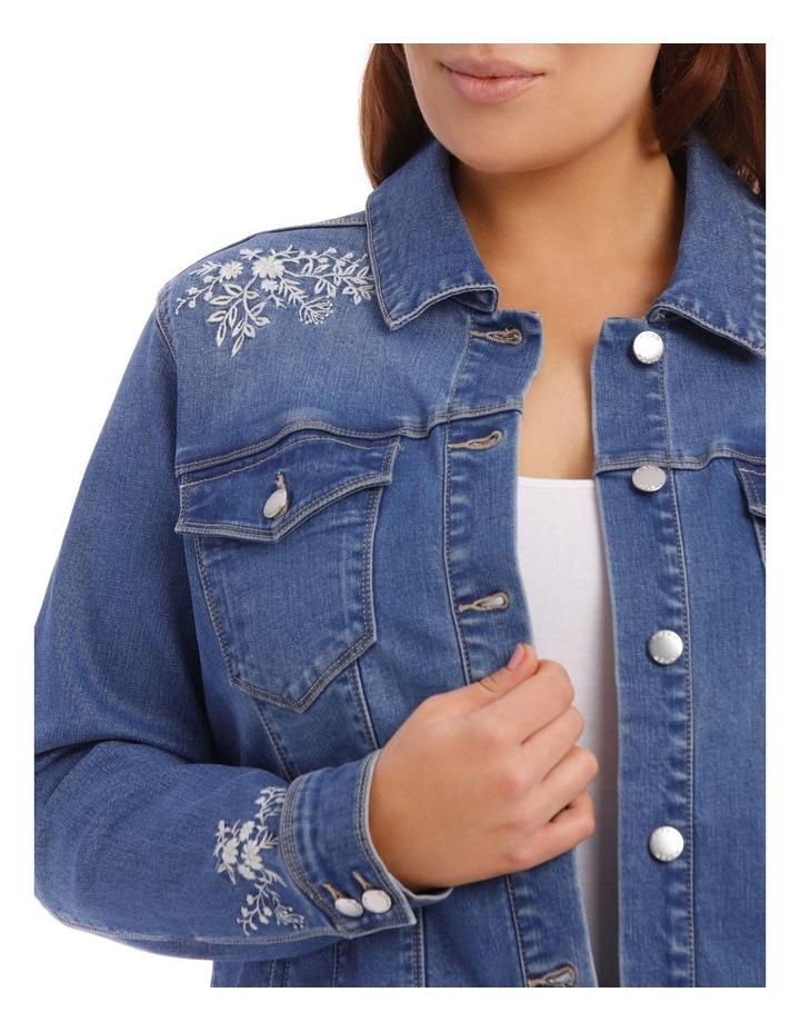 Embroidered Denim Jacket image 8