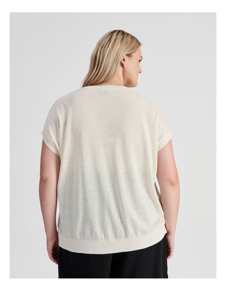 Lightweight Linen Knit Top image 4