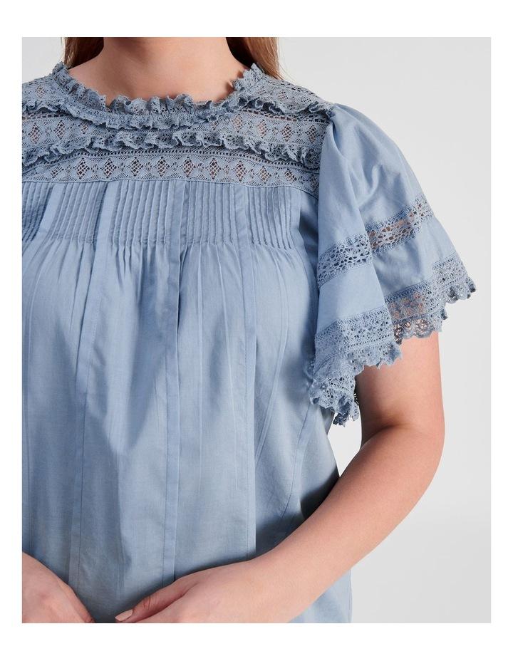 Flutter Sleeve Lace Trim Top image 6