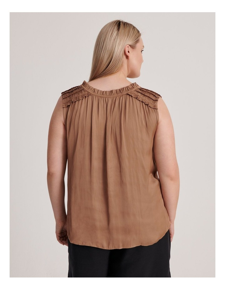Frill Shoulder Sleeveless Blouse image 3