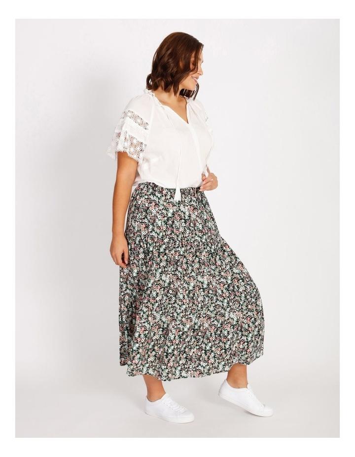 Lace Sleeve Tassel Tie Blouse image 2