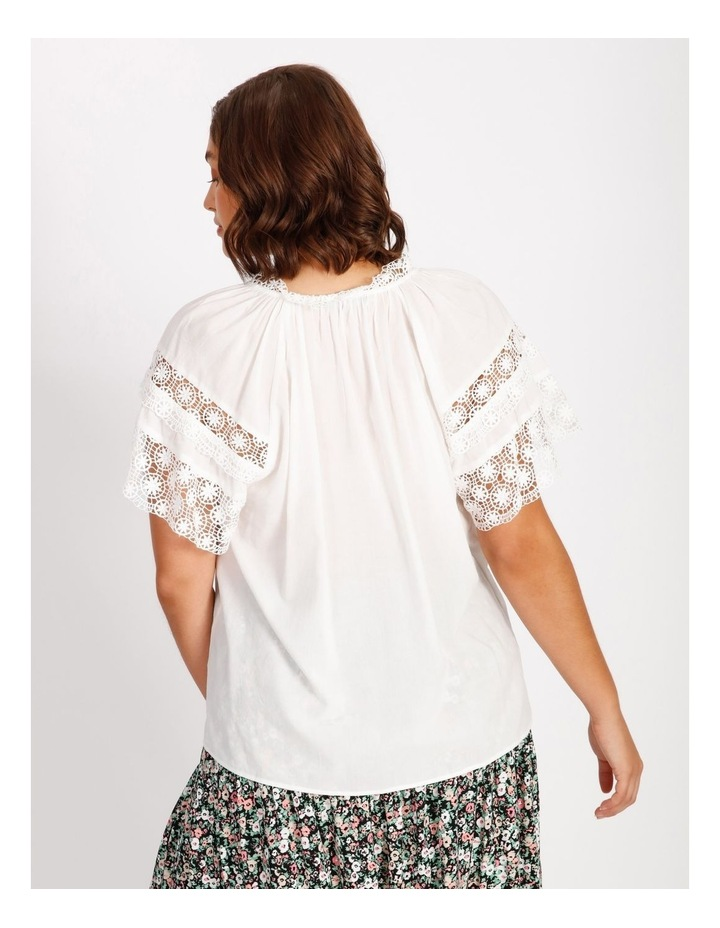 Lace Sleeve Tassel Tie Blouse image 3