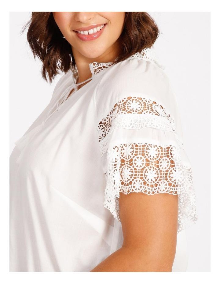 Lace Sleeve Tassel Tie Blouse image 4
