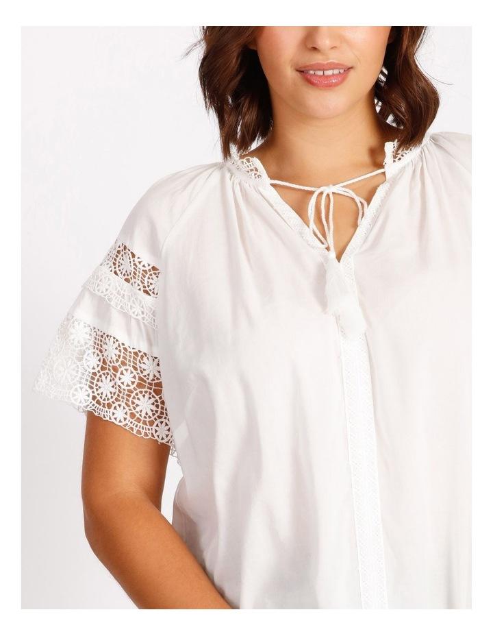 Lace Sleeve Tassel Tie Blouse image 5
