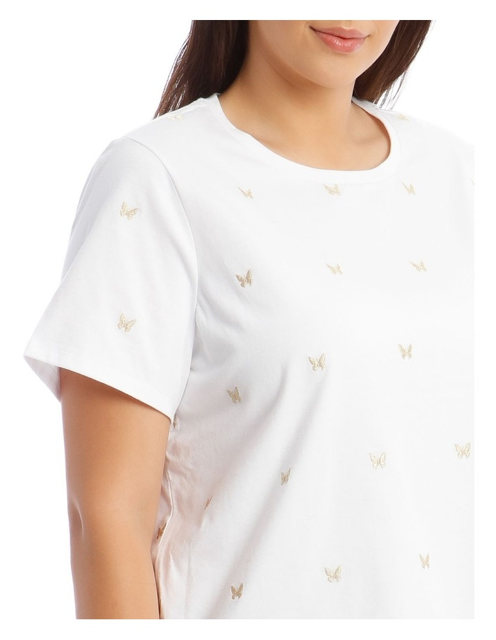 Short-Sleeve T-Shirt with Embroidered Butterfly Detail image 4