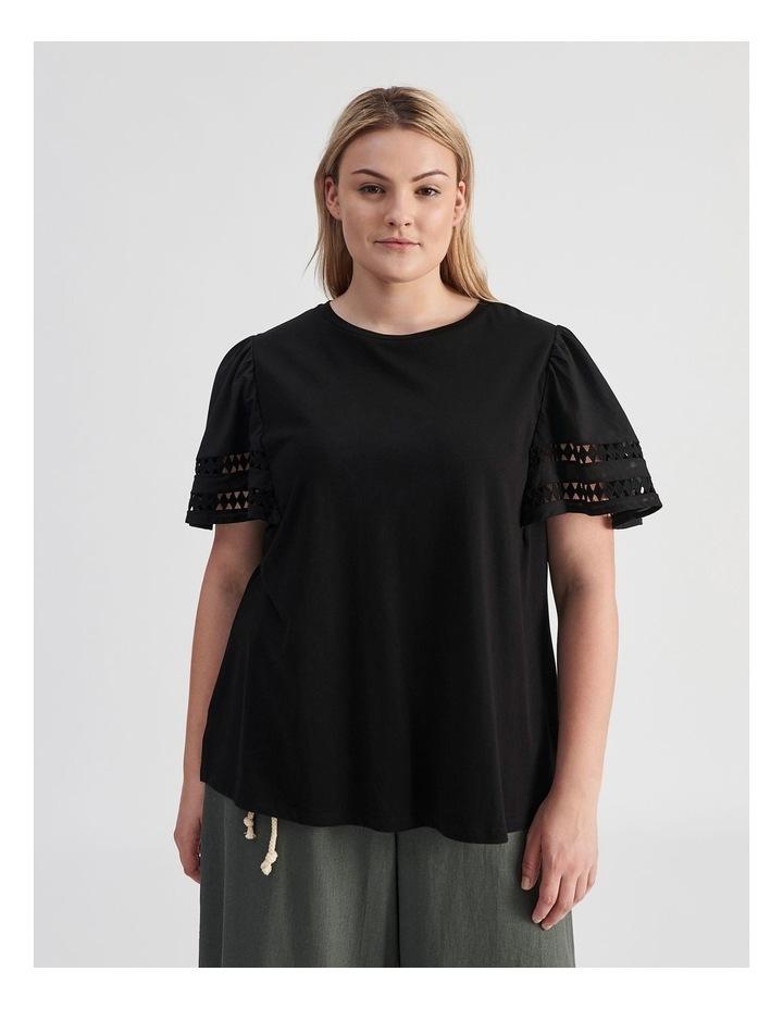 Embroidered Sleeve Tee image 1