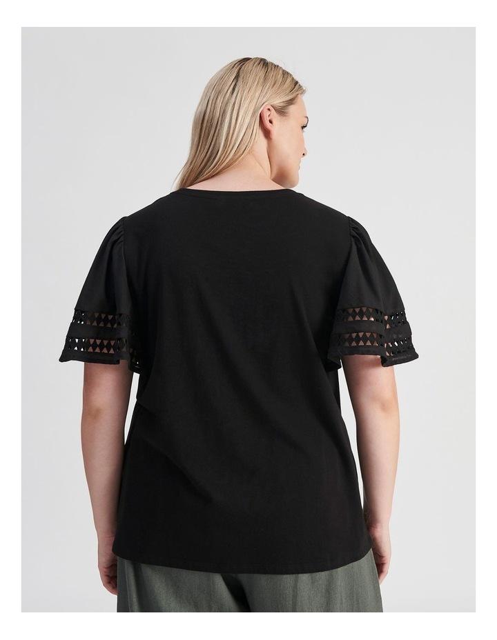 Embroidered Sleeve Tee image 4