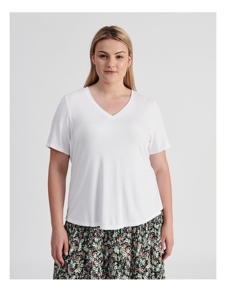 Curve V-Neck Bamboo Tee image 1