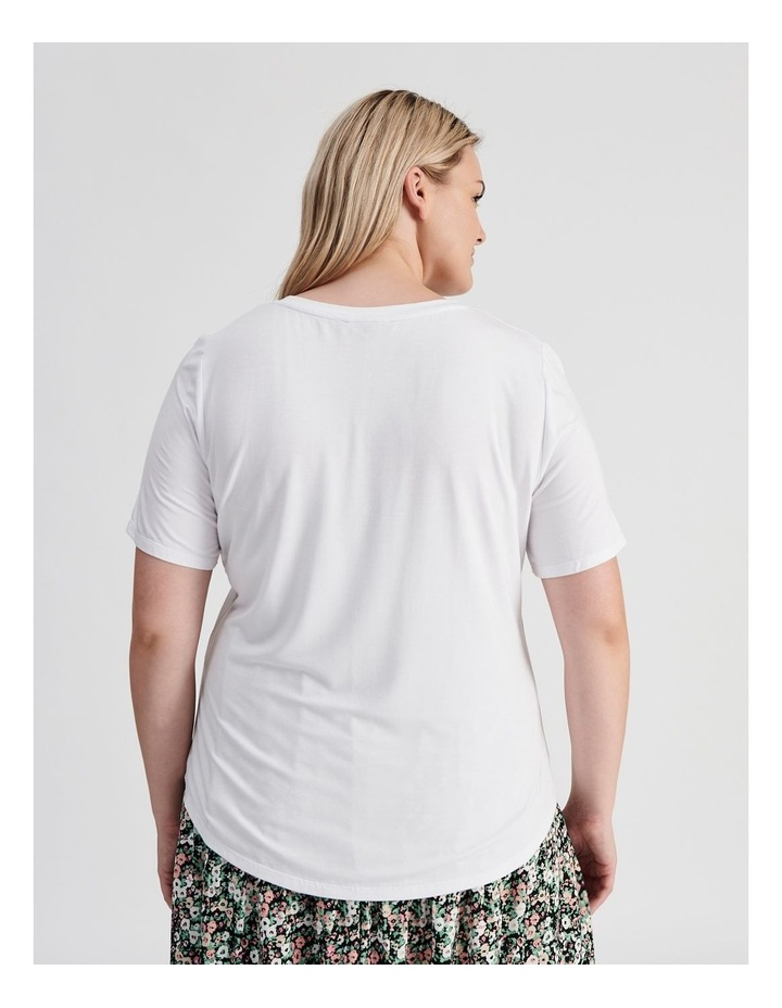 Curve V-Neck Bamboo Tee image 3