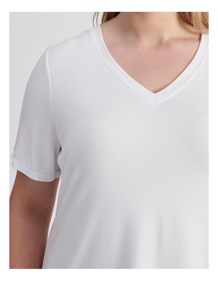 Curve V-Neck Bamboo Tee image 6