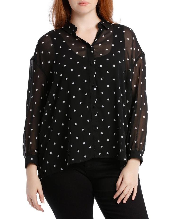 Shirt Oversized Spot with Velvet Buttons image 1