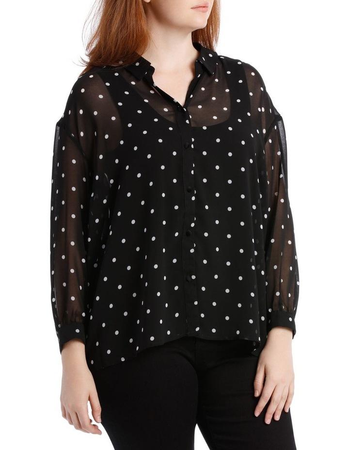 Shirt Oversized Spot with Velvet Buttons image 2