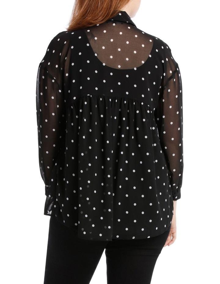 Shirt Oversized Spot with Velvet Buttons image 3