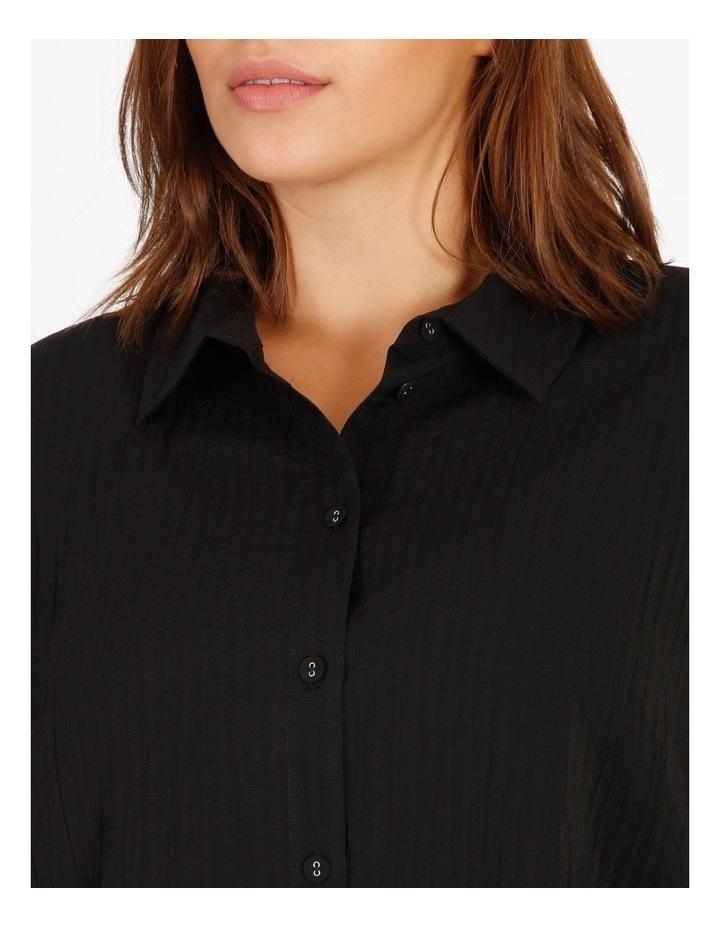 Textured Bubble Sleeve Shirt image 5