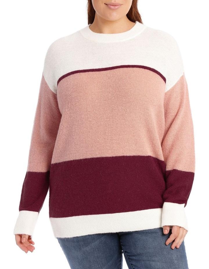 Crew Neck Stripe Sweater image 1