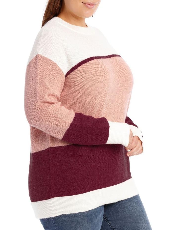 Crew Neck Stripe Sweater image 2
