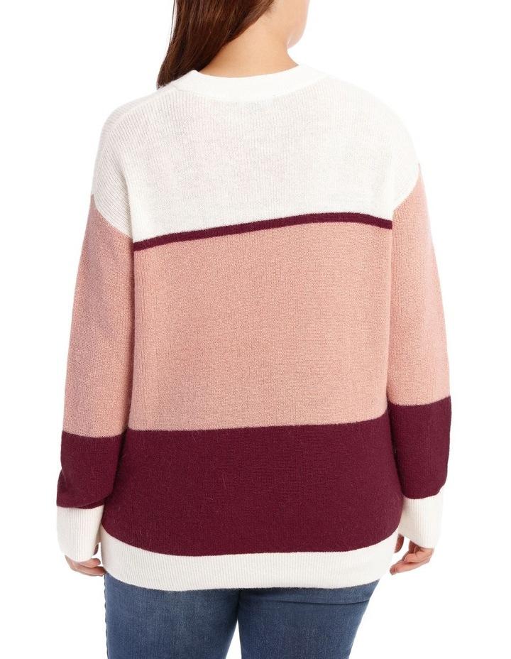Crew Neck Stripe Sweater image 3