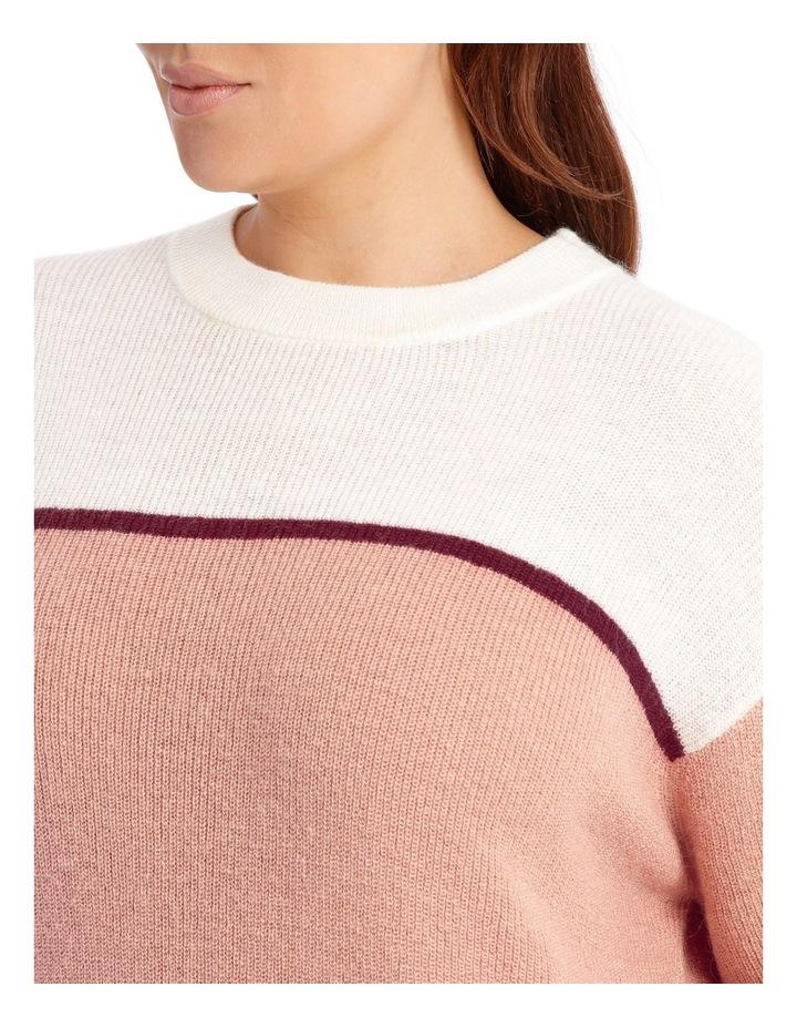 Crew Neck Stripe Sweater image 4