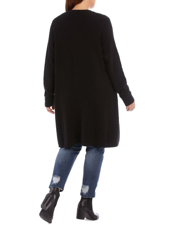 Long Line Cardigan Jersey With Contrast Button image 6