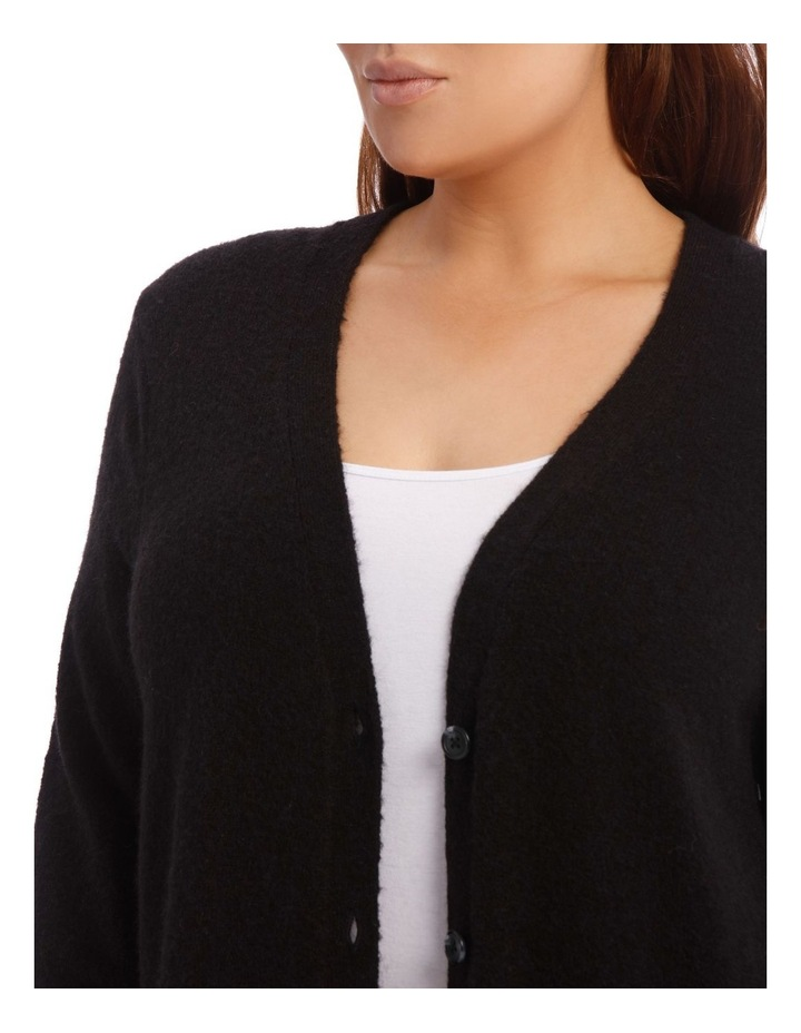 Long Line Cardigan Jersey With Contrast Button image 8