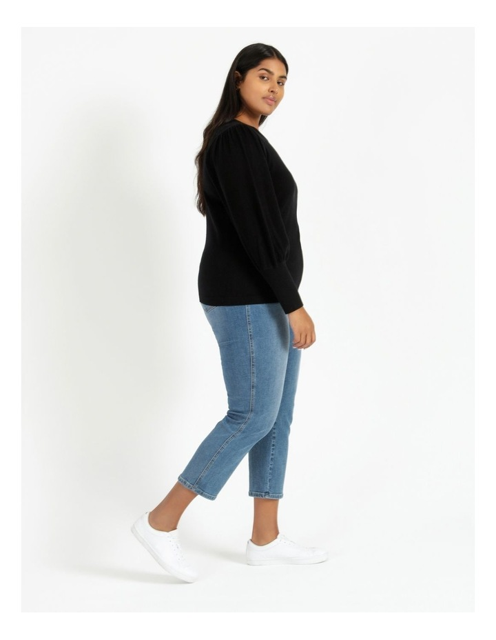 Fine Gauge Puff Sleeve Sweater image 3