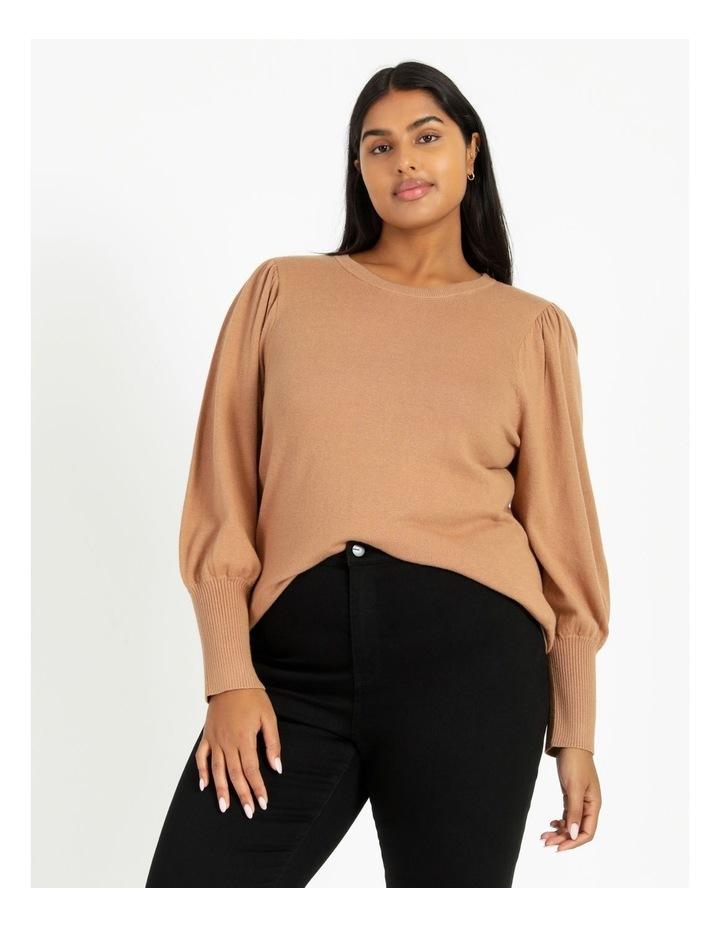 Fine Gauge Puff Sleeve Sweater image 2