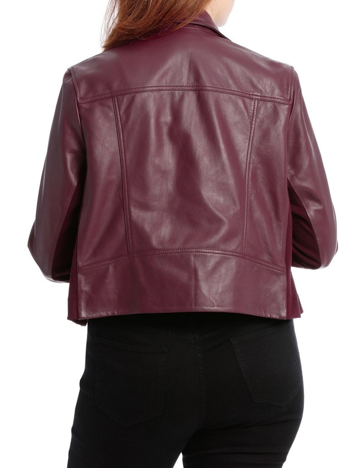 Leather Jacket With Zip And Pockets With Leather Tassels image 3