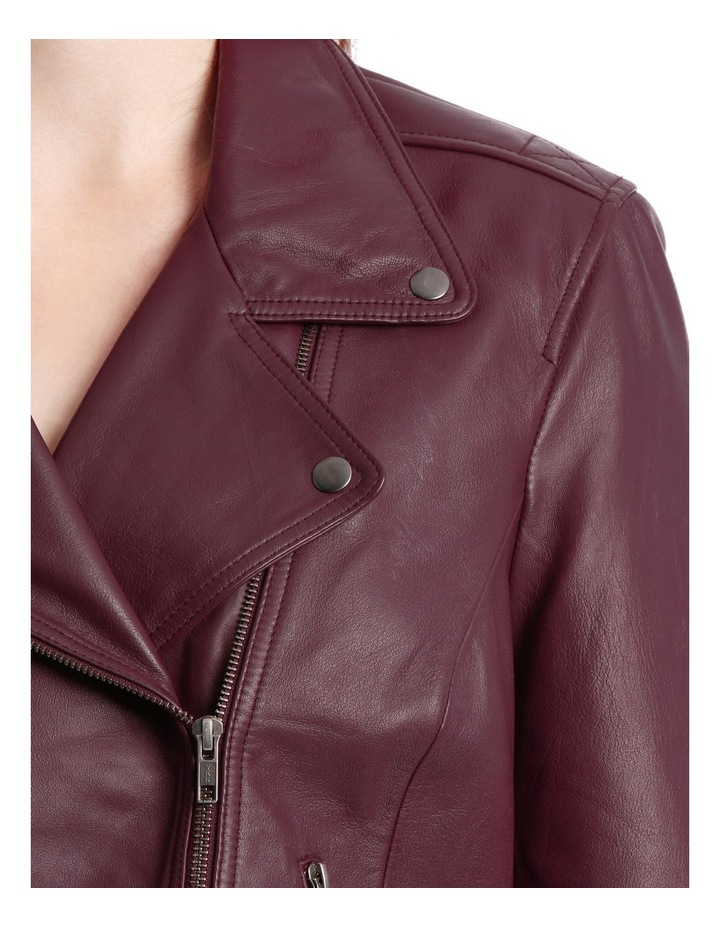 Leather Jacket With Zip And Pockets With Leather Tassels image 4