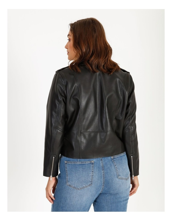Faux Leather Biker Jacket image 3