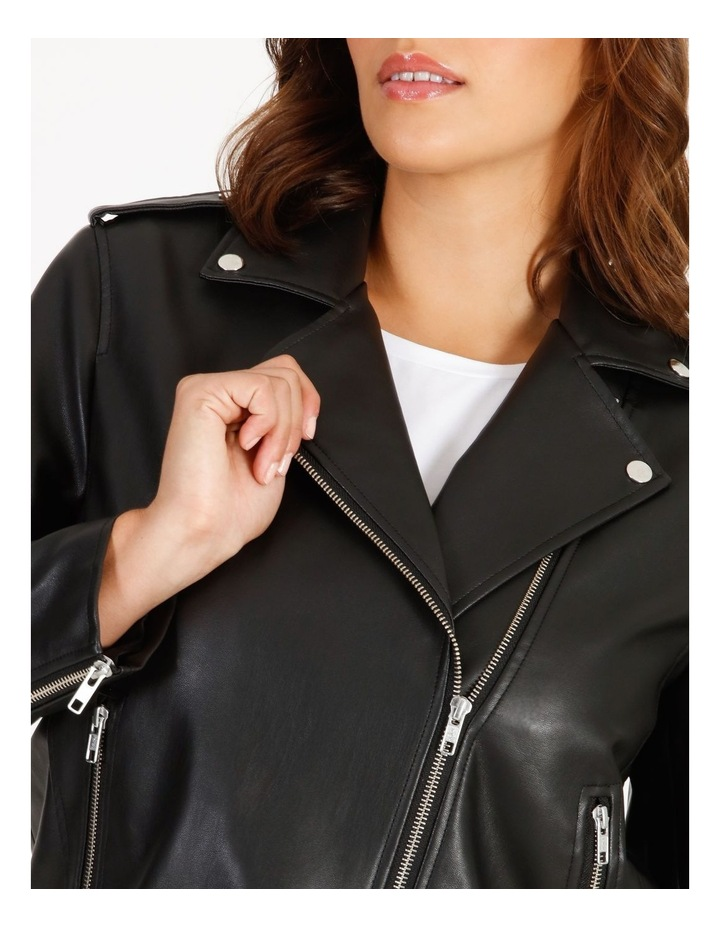 Faux Leather Biker Jacket image 4