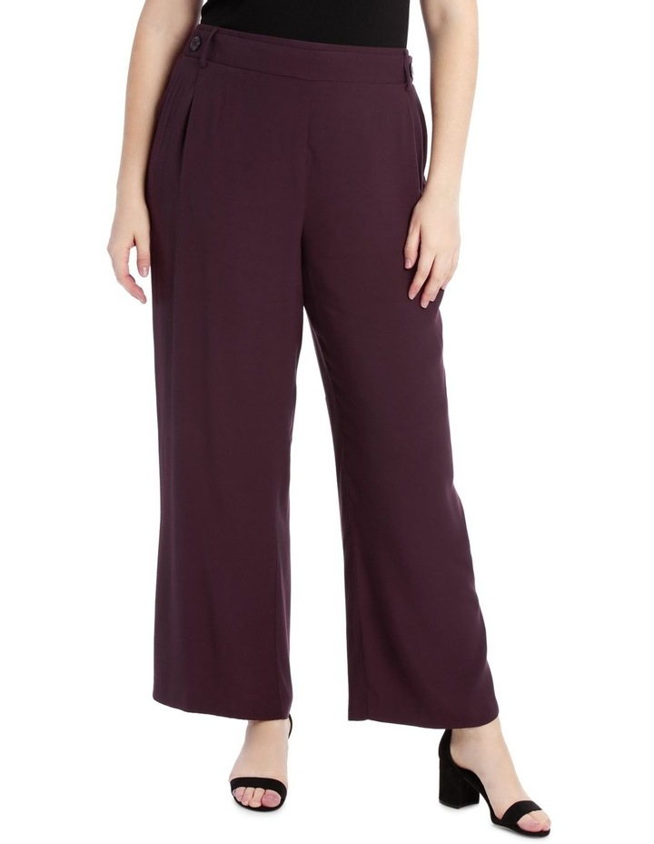 Wide Leg Pant With Button Detail image 1