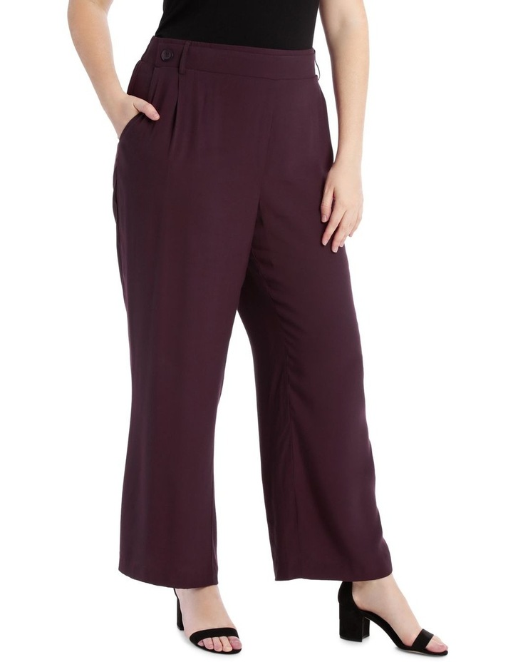 Wide Leg Pant With Button Detail image 2