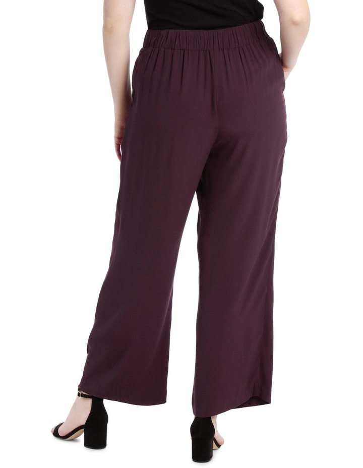 Wide Leg Pant With Button Detail image 3