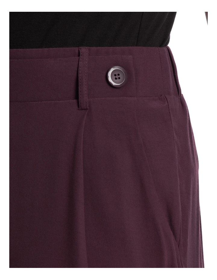 Wide Leg Pant With Button Detail image 4
