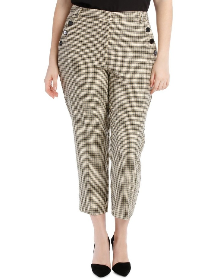 2d792e5e49b Check Pant Side Flat Elastic with Buttons image 1