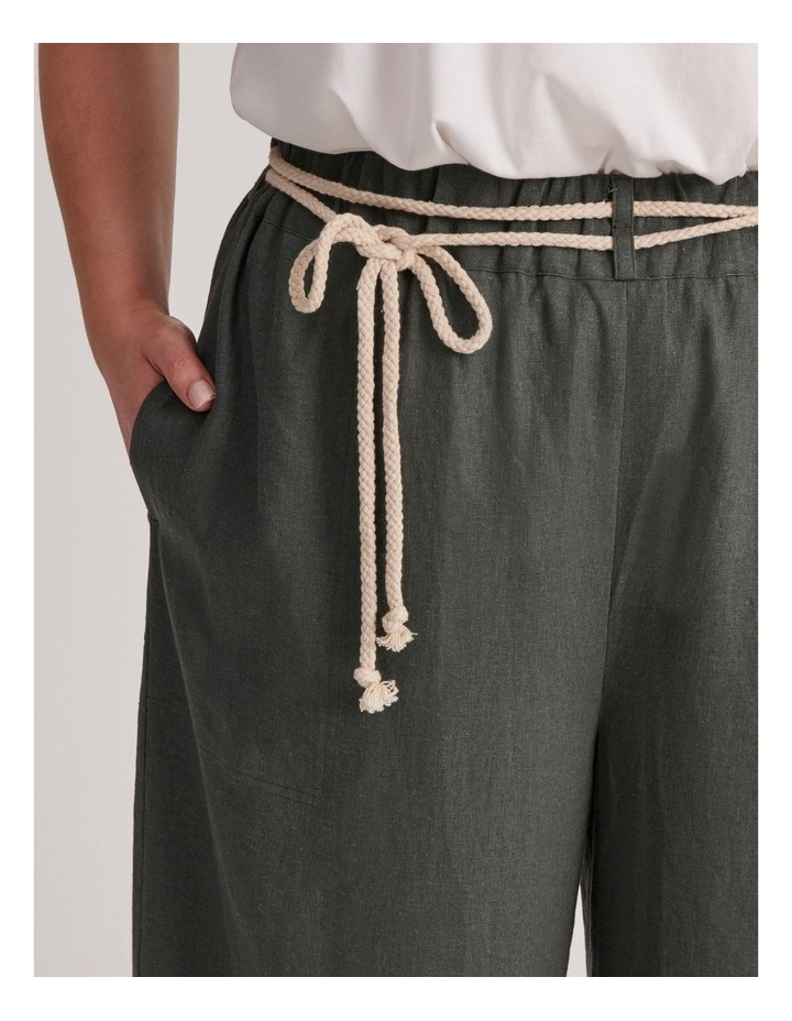 Linen Culotte With Rope Belt image 5