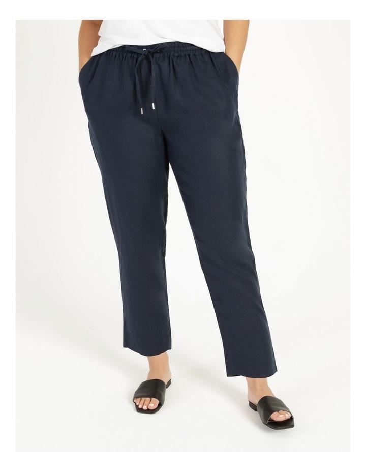 Navy Linen Pants image 1