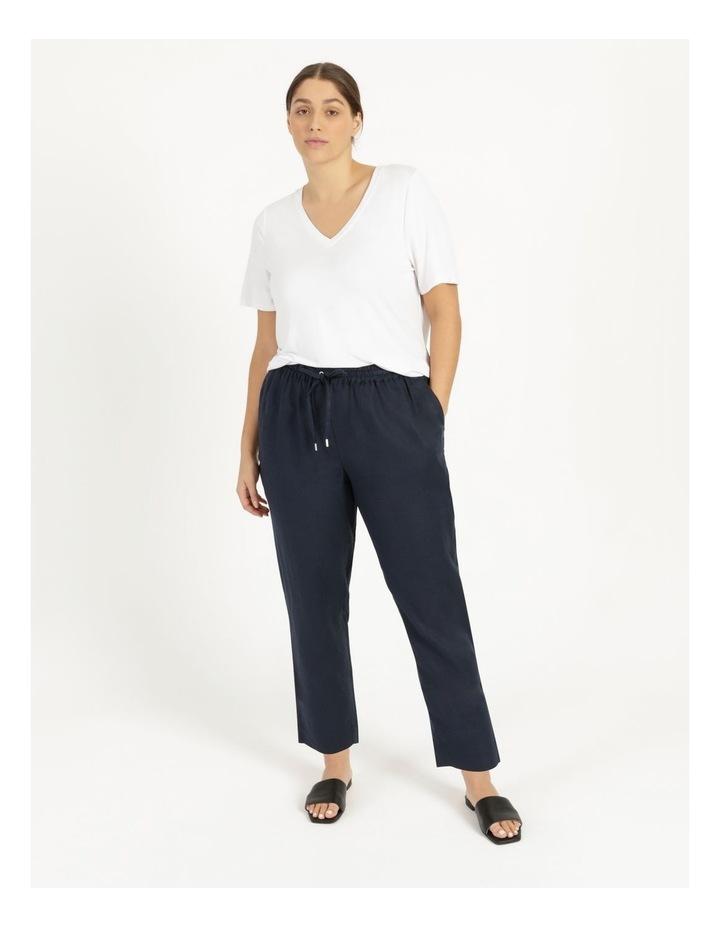 Navy Linen Pants image 2