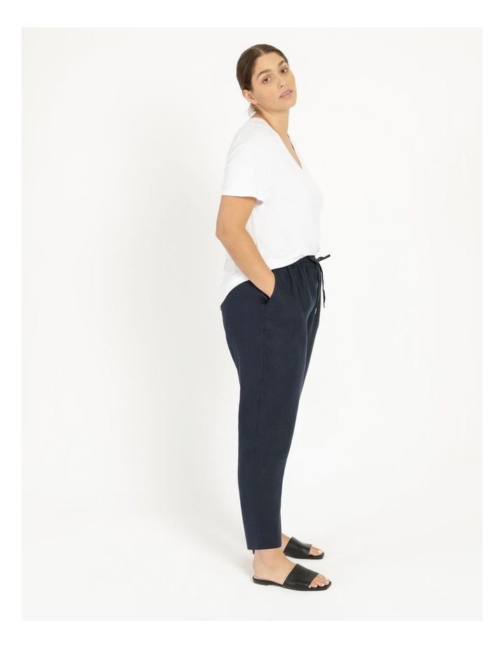 Navy Linen Pants image 3